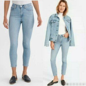 Everlane High-Rise Skinny Jeans in Light Blue Wash